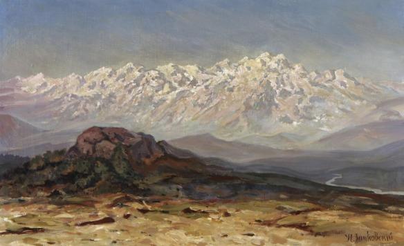 Ilya Nikolaevich Zankovsky - chaîne de montagnes enneigés.jpg