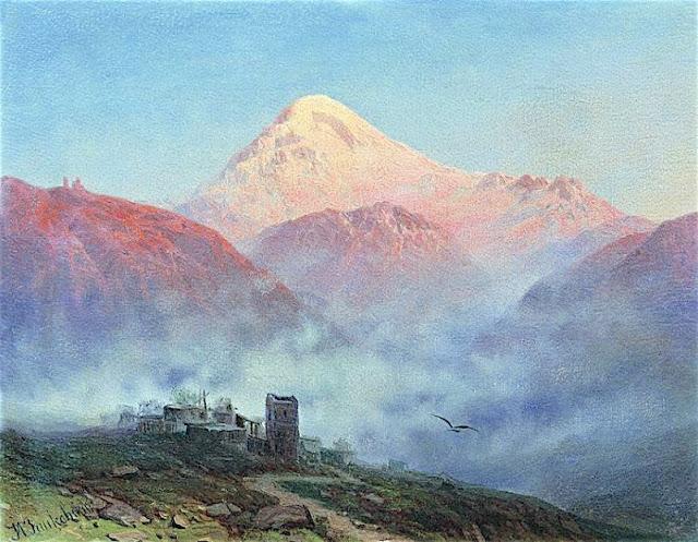 ILYA NIKOLAEVITCH ZANKOVSKY (1832-1919) - Mount Kazbek.jpg