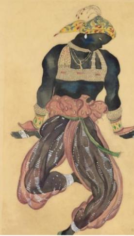 le nègre d'argent, Projet de costume pour le ballet Shéherazade, 1910