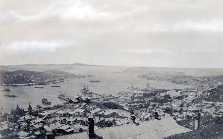 The port of Vladivostok during the American Intervention in Russia, ca. 1918-1919. Naval Institute Photo Archive.jpg